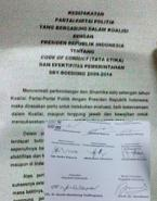 Isi Kontrak Koalisi Parpol dengan SBY